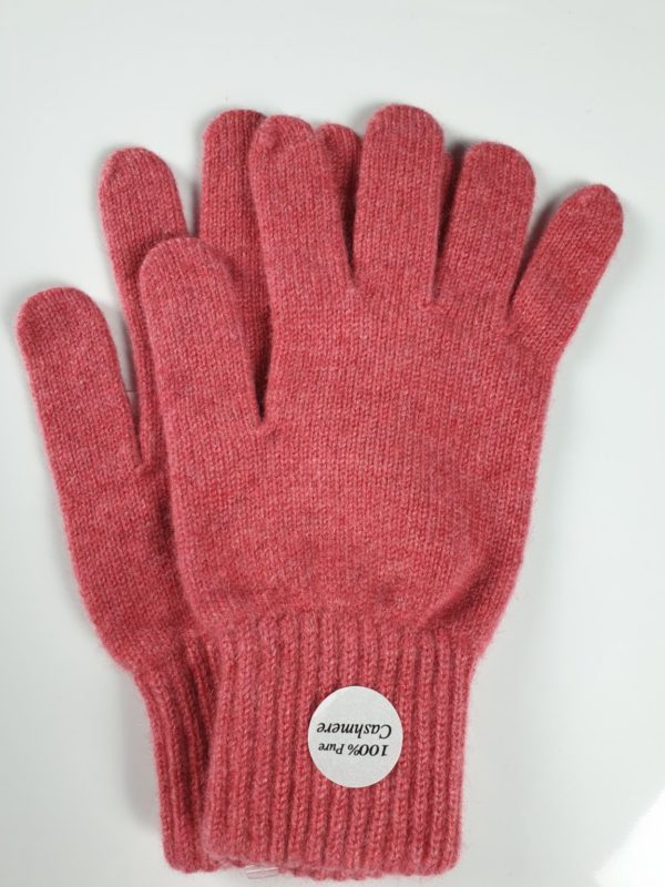 product image for a pair of starfish pink pure cashmere gloves made in Scotland - 600x800 - product id: 895 - cashmereglovesandscarves.co.uk