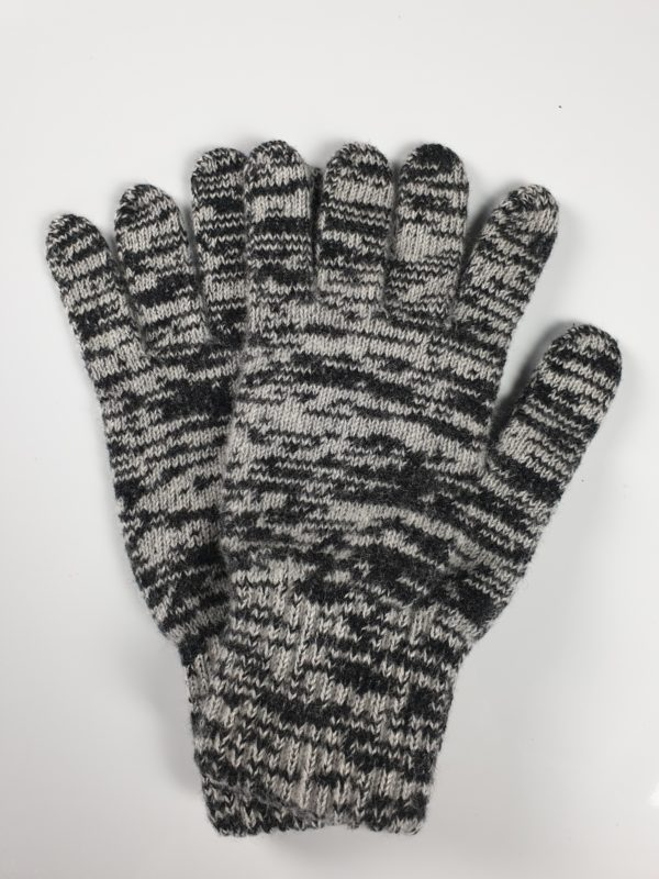 product image of black and grey speckled pure cashmere gloves - product ID: 841 - https://cashmereglovesandscarves.co.uk/