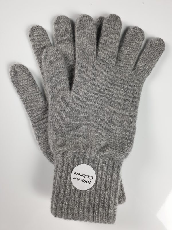 product image for a pair of pure cashmere gloves in cygent grey - 800x600 - product id: 847 - cashmereglovesandscarves.co.uk