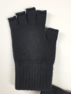 product image for a pair of black pure cashmere fingerless gloves made in Scotland - 600x800 - product id:838 - cashmereglovesandscarves.co.uk