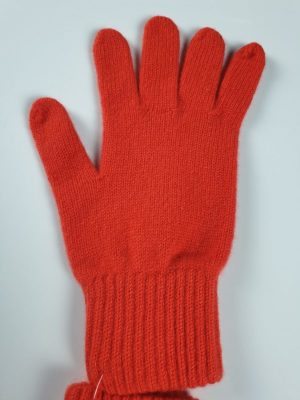 product image for a pair of blood orange pure cashmere gloves made in Scotland - 600x800 - product id:909 - cashmereglovesandscarves.co.uk