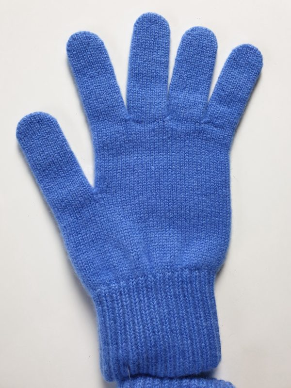 product image for a pair of boston blue pure cashmere gloves made in Scotland - 600x800 - product id:973 - cashmereglovesandscarves.co.uk