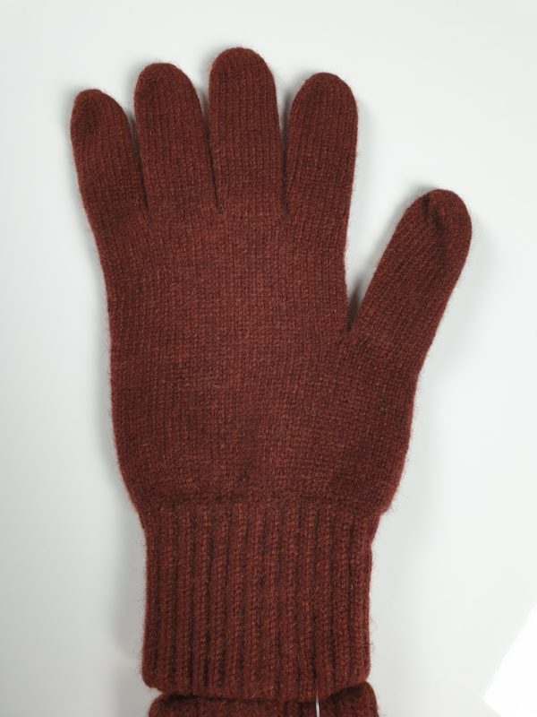 product image for a pair of rust brown pure cashmere gloves made in Scotland - 600x800 - product id:919 - cashmereglovesandscarves.co.uk