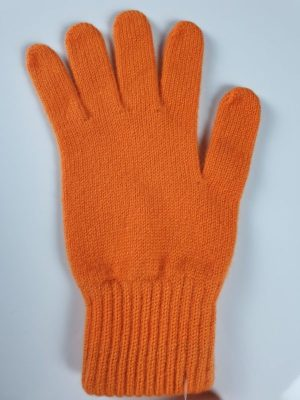 product image for a pair of carrot orange pure cashmere gloves made in Scotland - 600x800 - product id:900 - cashmereglovesandscarves.co.uk