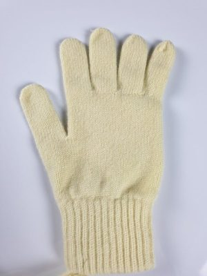 product image for a pair of lemon yellow pure cashmere gloves made in Scotland - 600x800 - product id:907 - cashmereglovesandscarves.co.uk