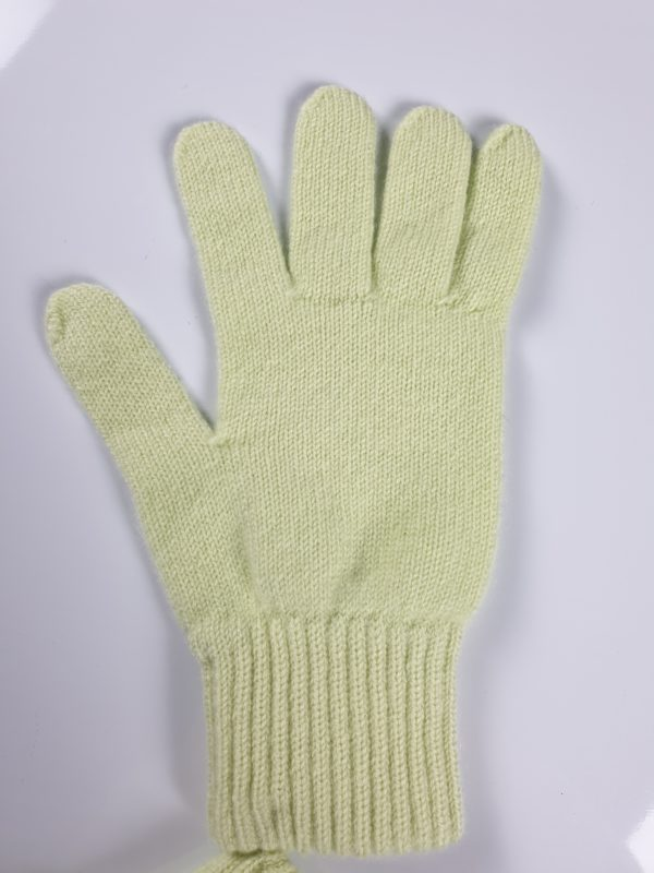 product image for a pair of mint green pure cashmere gloves made in Scotland - 600x800 - product id:948 - cashmereglovesandscarves.co.uk