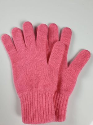 product image for a pair of coral pink cashmere gloves made in Scotland - 600x800 - product id: 890 - cashmereglovesandscarves.co.uk