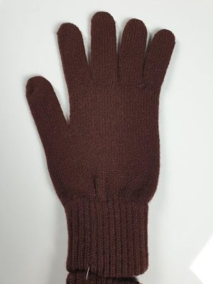 product image for a pair of cafe noir dark brown pure cashmere gloves made in Scotland - 600x800 - product id:918 - cashmereglovesandscarves.co.uk