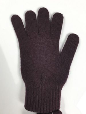 product image for a pair of dark raisin brown pure cashmere gloves made in Scotland - 600x800 - product id:928 - cashmereglovesandscarves.co.uk