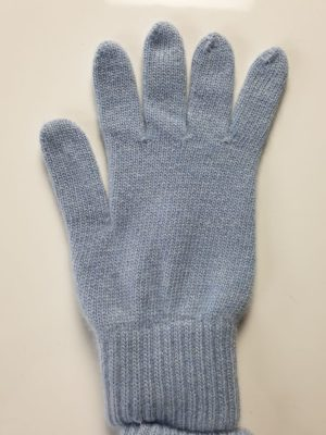 product image for a pair of glacier blue pure cashmere gloves made in Scotland - 600x800 - product id:978 - cashmereglovesandscarves.co.uk