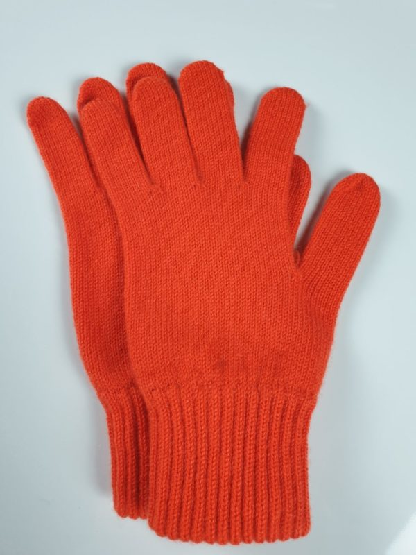 product image for a pair of marmalade orange pure cashmere gloves made in Scotland - 600x800 - product id:901 - cashmereglovesandscarves.co.uk