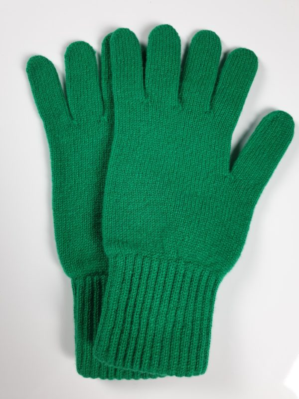 product image for a pair of parakeet green pure cashmere gloves made in Scotland - 600x800 - product id:943 - cashmereglovesandscarves.co.uk