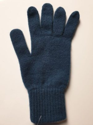 product image for a pair of peacock blue pure cashmere gloves made in Scotland - 600x800 - product id:966 - cashmereglovesandscarves.co.uk