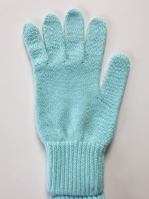 product image for a pair of polar blue pure cashmere gloves made in Scotland - 600x800 - product id:979 - cashmereglovesandscarves.co.uk