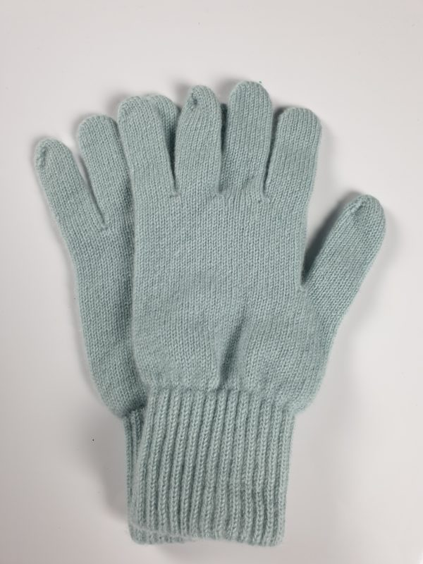 product image for a pair of powder blue pure cashmere gloves made in Scotland - 600x800 - product id:959 - cashmereglovesandscarves.co.uk