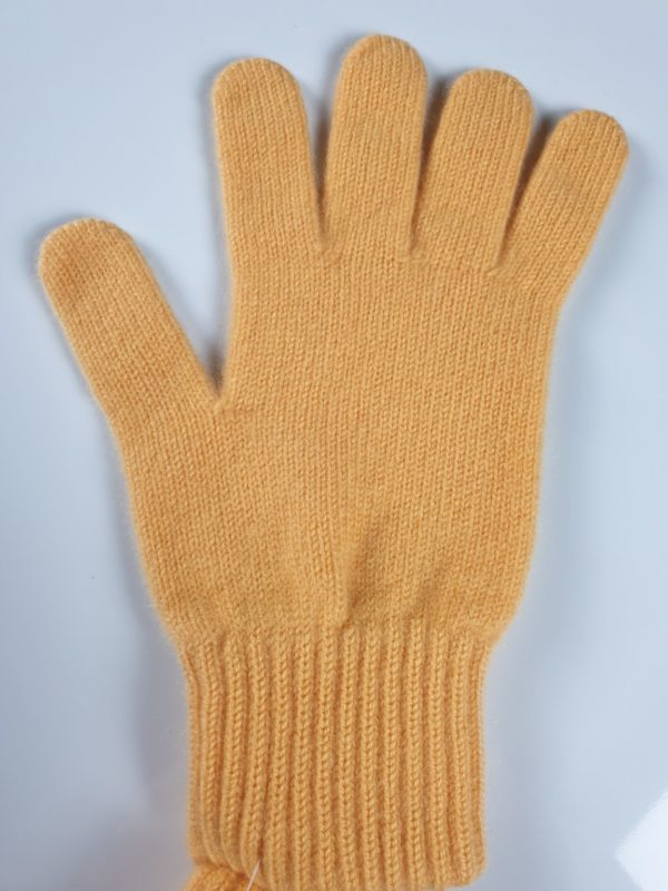 product image for a pair of butterscotch orange pure cashmere gloves made in Scotland - 600x800 - product id:906 - cashmereglovesandscarves.co.uk