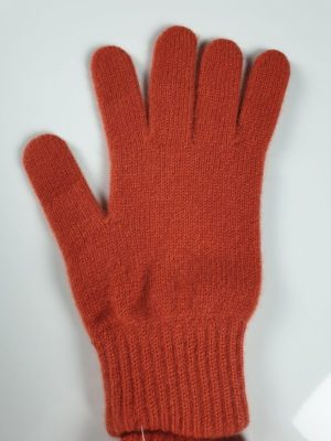 product image for a pair of rust orange pure cashmere gloves made in Scotland - 600x800 - product id:903 - cashmereglovesandscarves.co.uk