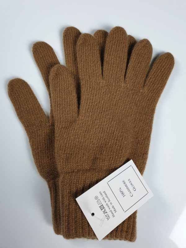 product image for a pair of desert brown pure cashmere gloves made in Scotland - 600x800 - product id:924 - cashmereglovesandscarves.co.uk