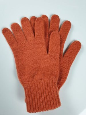 product image for a pair of tangerine orange pure cashmere gloves made in Scotland - 600x800 - product id:902 - cashmereglovesandscarves.co.uk
