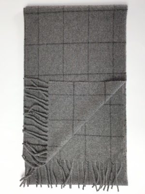 product image of a pure cashmere scarf in camel checkered pattern 600x800 - cashmereglovesandscarves.co.uk