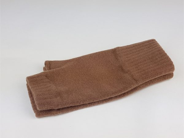 product image brown cashmere wrist warmers