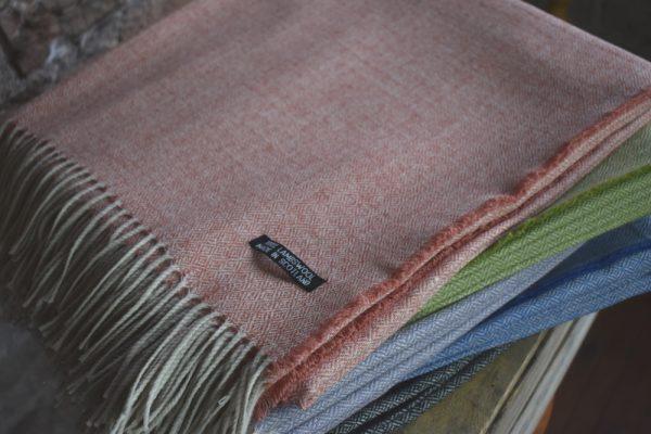 Lambswool Basket Weave Blanket | Made in Scotland